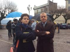 Cristiana Avenali con Fausto Bassetta, Sindaco di Anagni